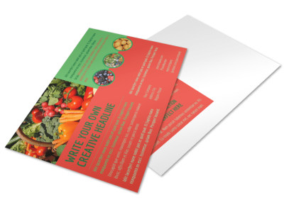 Fresh Local Produce Postcard Template preview
