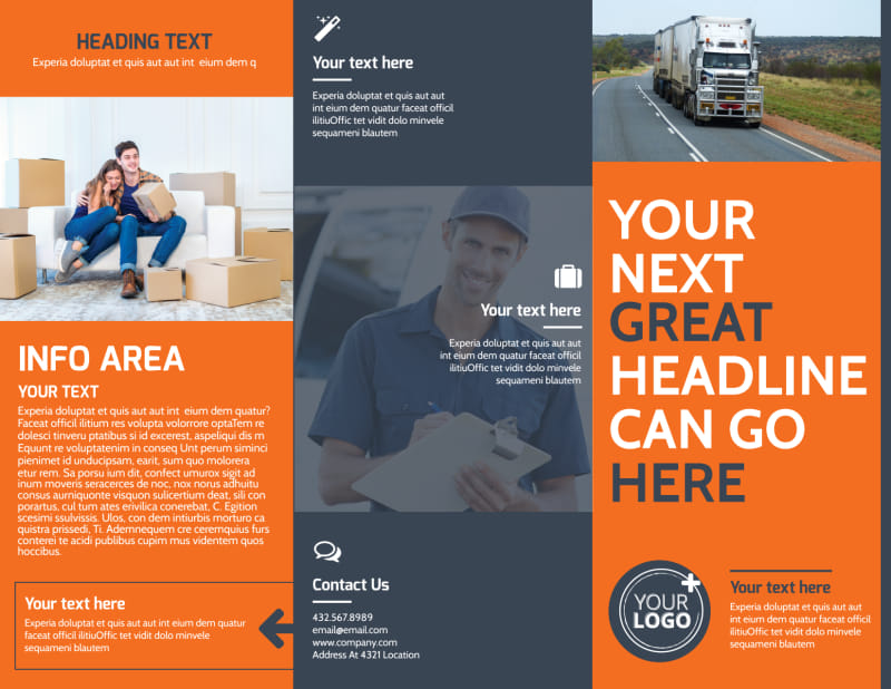 Moving Company Brochure Template Preview 2