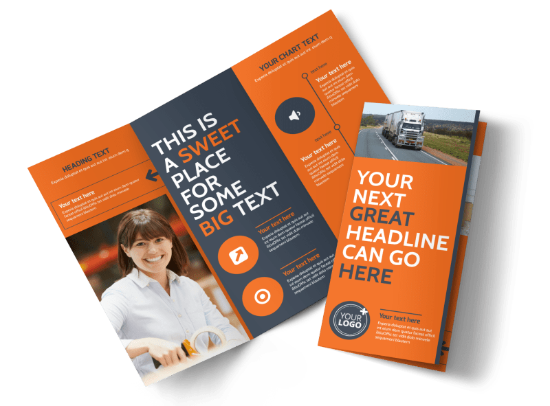 Moving Company Brochure Template Preview 1