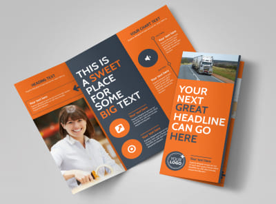 Moving Company Tri-Fold Brochure Template preview