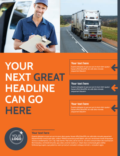 Moving Company Flyer Template Preview 1