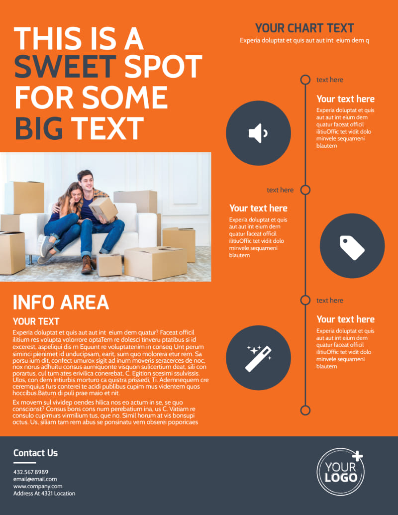 Moving Company Flyer Template Preview 3