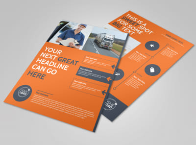 Moving Company Flyer Template preview