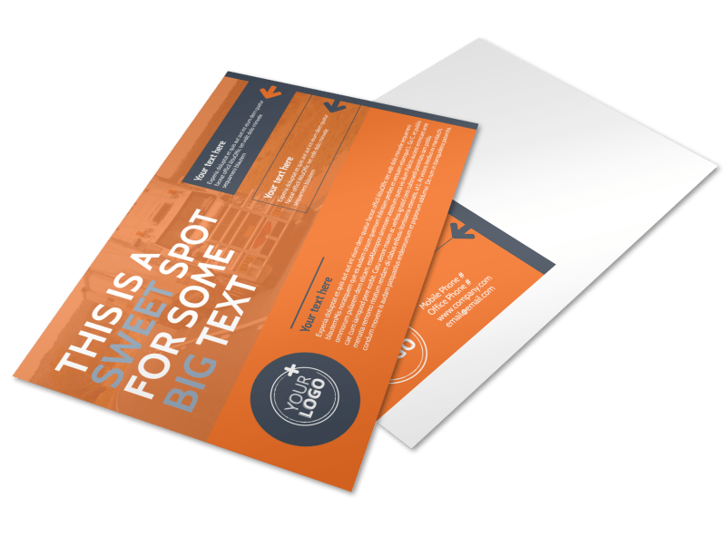 Moving Company Postcard Template Preview 1