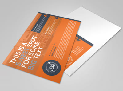 Moving Company Postcard Template preview