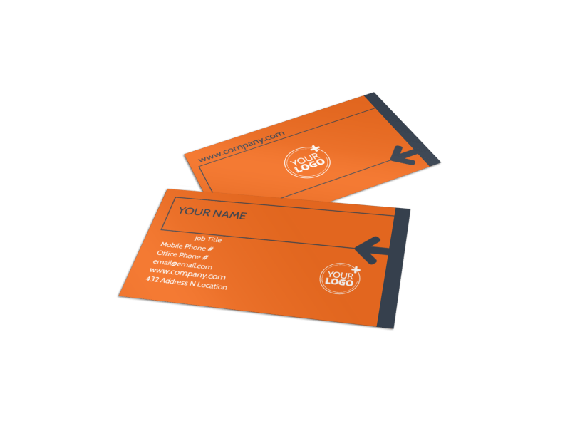 Moving Company Business Card Template Preview 1