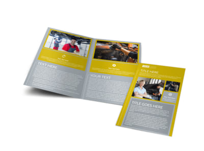 Auto Body & Repair Bi-Fold Brochure Template