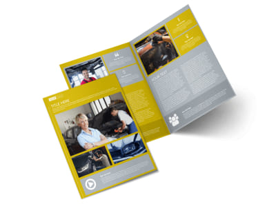 Auto Body & Repair Bi-Fold Brochure Template preview