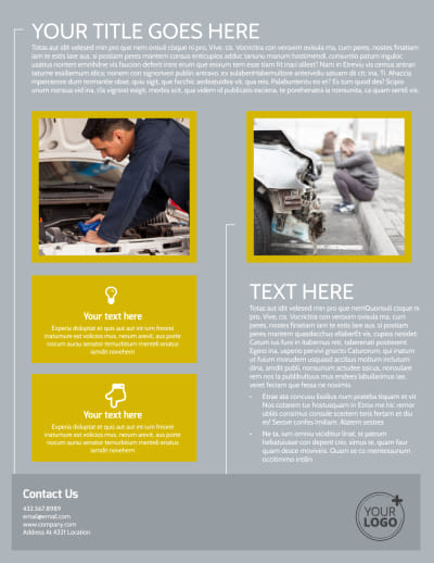 Auto Body & Repair Flyer Template Preview 2