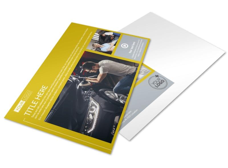 Auto Body & Repair Postcard Template