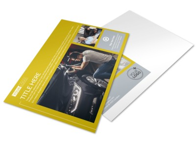 Auto Body & Repair Postcard Template preview