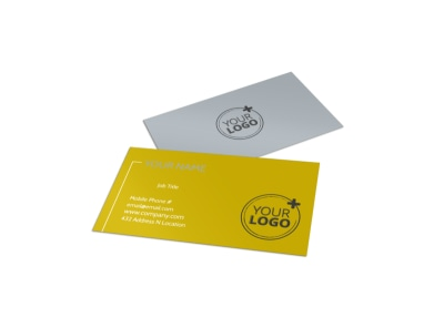Auto Body & Repair Business Card Template preview