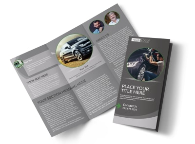 Custom Auto Painting Tri-Fold Brochure Template preview
