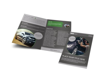 Custom Auto Painting Bi-Fold Brochure Template preview