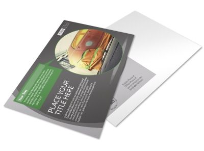 Custom Auto Painting Postcard Template preview