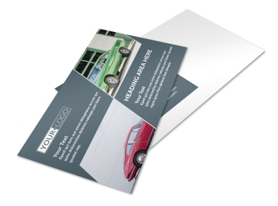 Custom Automotive Postcard Template preview