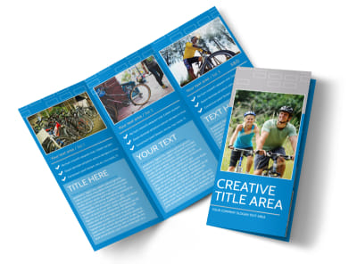 Bicycle Rental Service Tri-Fold Brochure Template preview