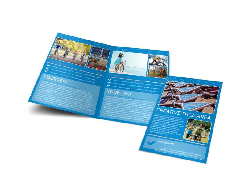 Bicycle Rental Service Bi-Fold Brochure Template