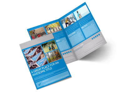 Bicycle Rental Service Bi-Fold Brochure Template