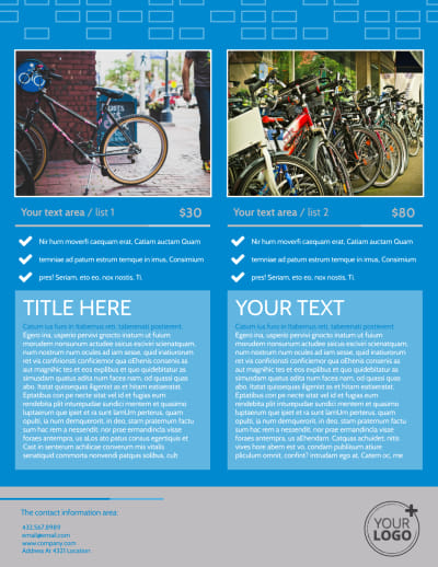 Bicycle Rental Service Flyer Template Preview 2