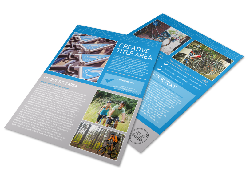 Bicycle Rental Service Flyer Template Preview 1