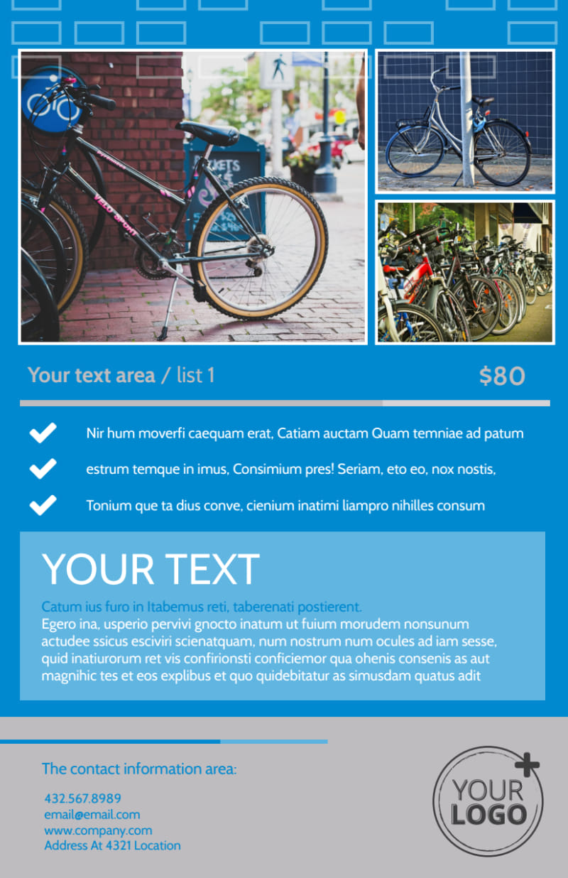 Bicycle Rental Service Flyer Template Preview 3