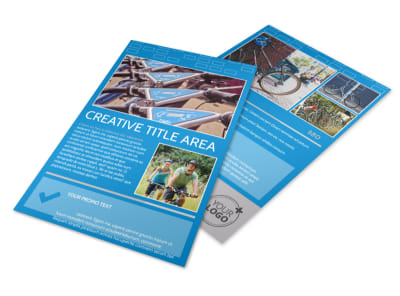 Bicycle Rental Service Flyer Template