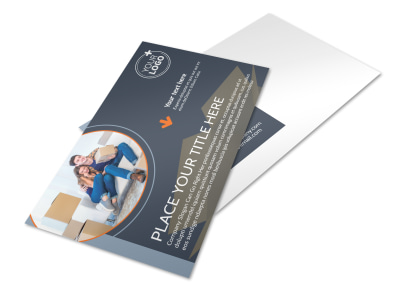 Premier Moving Service Postcard Template preview