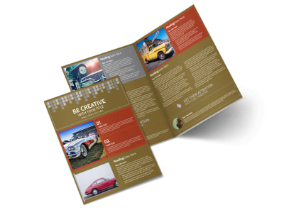 Amazing Rides Car Show Bi-Fold Brochure Template preview
