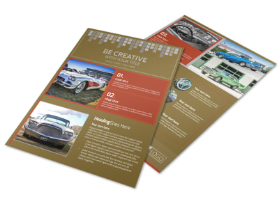 Amazing Rides Car Show Flyer Template preview