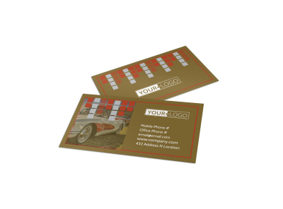 Amazing Rides Car Show Business Card Template preview