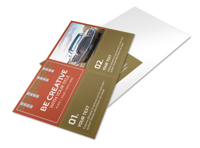 Amazing Rides Car Show Postcard Template preview
