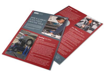 Dependable Car Mechanic Flyer Template preview