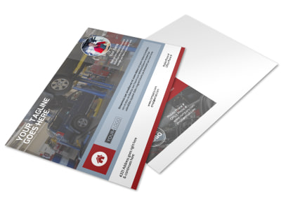 Dependable Car Mechanic Postcard Template preview