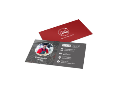 Dependable Car Mechanic Business Card Template preview