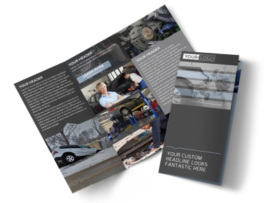Auto Collision Repair Tri-Fold Brochure Template preview