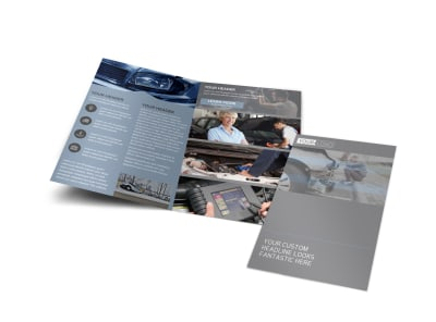 Auto Collision Repair Bi-Fold Brochure Template preview