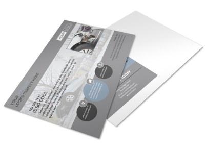 Auto Collision Repair Postcard Template preview