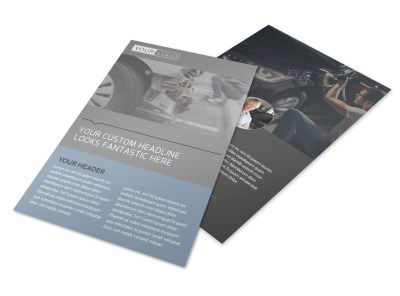 Auto Collision Repair Flyer Template preview