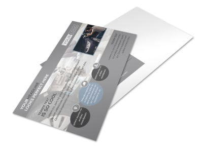 Auto Collision Repair Postcard Template preview