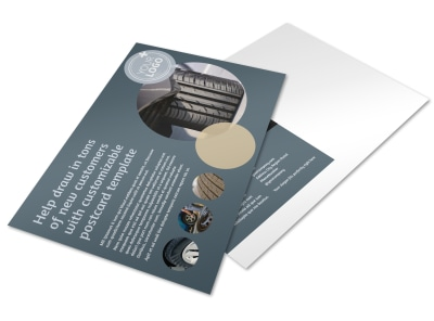Wholesale Tire Postcard Template preview