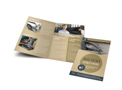 Collision & Glass Repair Bi-Fold Brochure Template preview