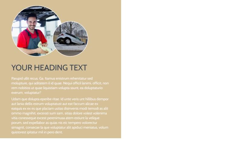Collision & Glass Repair Postcard Template Preview 3