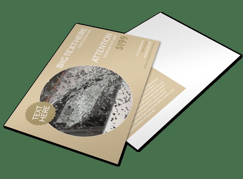 Collision & Glass Repair Postcard Template Preview 1