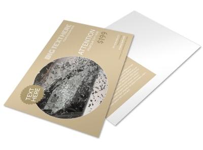 Collision & Glass Repair Postcard Template preview