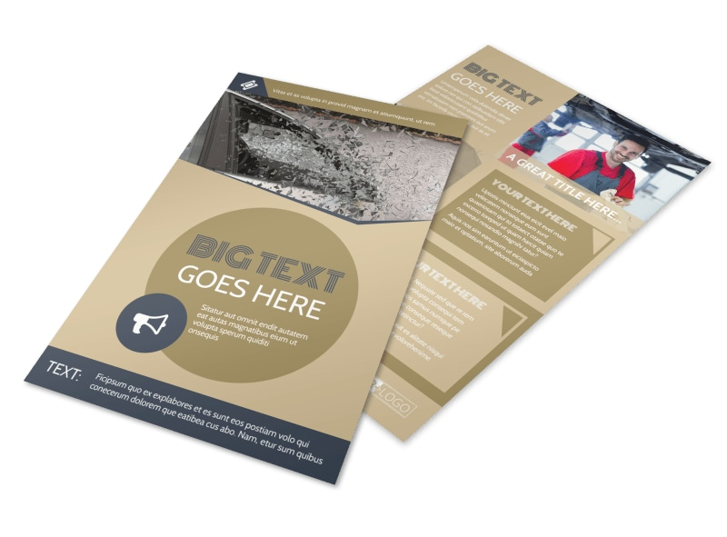 Collision & Glass Repair Flyer Template