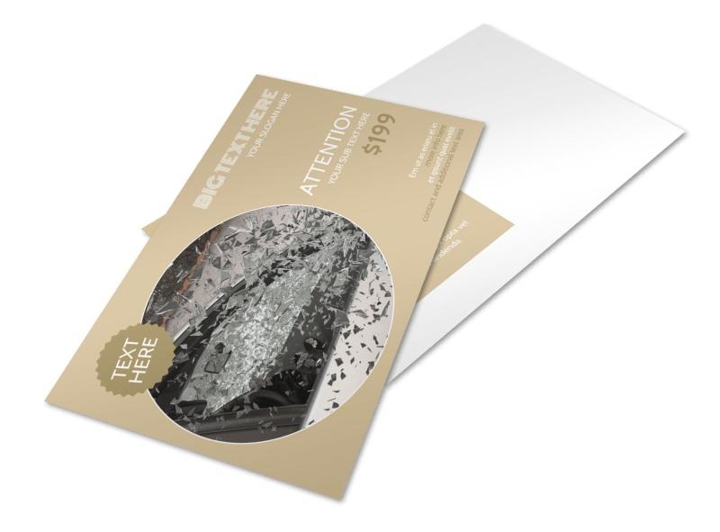 Collision & Glass Repair Postcard Template
