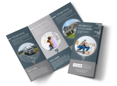 Apartment Moving Pros Tri-Fold Brochure Template preview