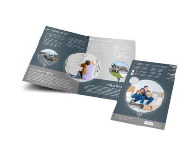 Apartment Moving Pros Bi-Fold Brochure Template preview