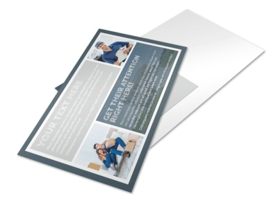 Apartment Moving Pros Postcard Template preview